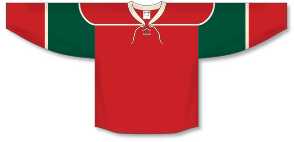 Athletic Knit (AK) H550B 2007 Minnesota Wild Red Hockey Jersey - PSH Sports