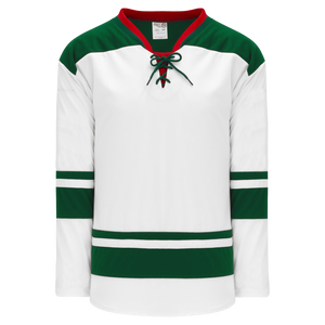 Athletic Knit (AK) H550BA-MIN565B Adult 2013 Minnesota Wild White Hockey Jersey