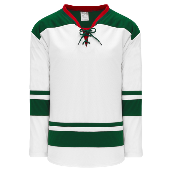 Athletic Knit (AK) H550B-MIN565B 2013 Minnesota Wild White Hockey Jersey