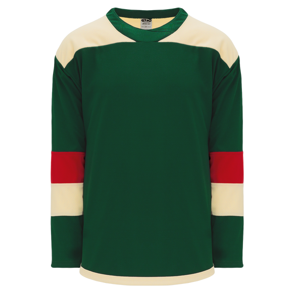 Athletic Knit (AK) H550B-MIN588B 2016 Minnesota Wild Stadium Series Dark Green Hockey Jersey