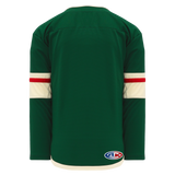 Athletic Knit (AK) H550BA-MIN860B Adult 2017 Minnesota Wild Dark Green Hockey Jersey