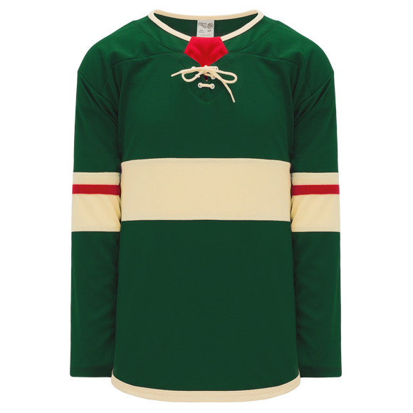 Athletic Knit (AK) H550B-MIN860B 2017 Minnesota Wild Dark Green Hockey Jersey