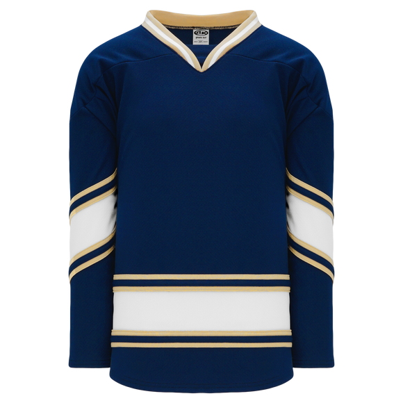 Athletic Knit (AK) H550BA-NDA677B New Adult University of Notre Dame Fighting Irish Navy Hockey Jersey