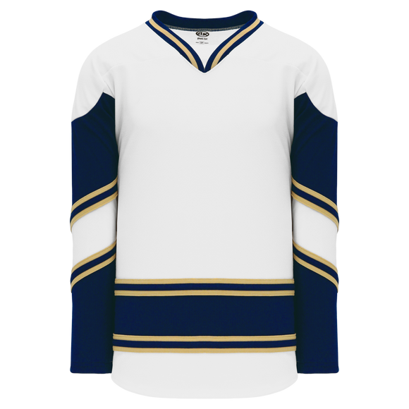 Athletic Knit (AK) H550BA-NDA678B New Adult University of Notre Dame Fighting Irish White Hockey Jersey