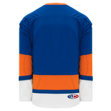 Athletic Knit (AK) H550BA-NYI490B Adult 2010 New York Islanders Royal Blue Hockey Jersey