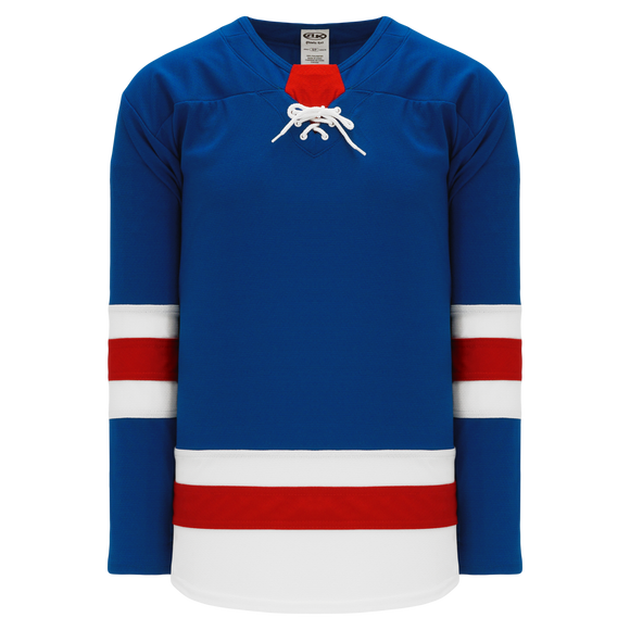 Athletic Knit (AK) H550BA-NYR534B Adult 2017 New York Rangers Royal Blue Hockey Jersey