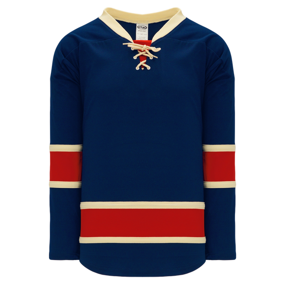 Athletic Knit (AK) H550B-NYR868B New New York Rangers Heritage Classic Navy Hockey Jersey