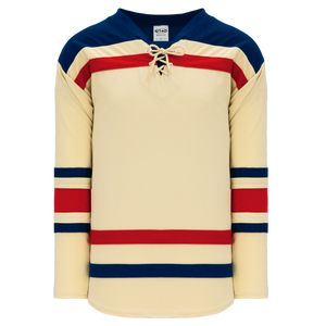 Athletic Knit (AK) H550BA-NYR869B New Adult New York Rangers Winter Classic Sand Hockey Jersey