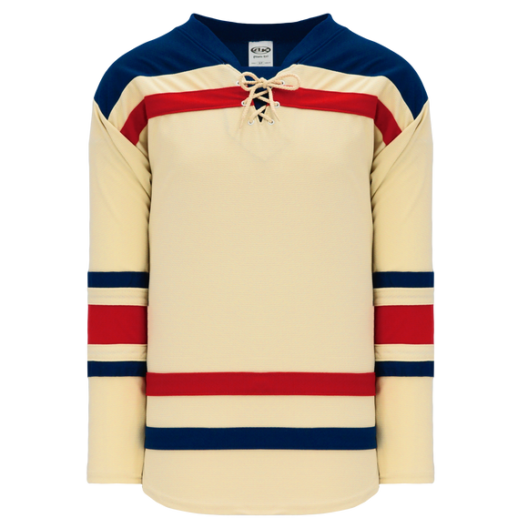 Athletic Knit (AK) H550B-NYR869B New New York Rangers Winter Classic Sand Hockey Jersey