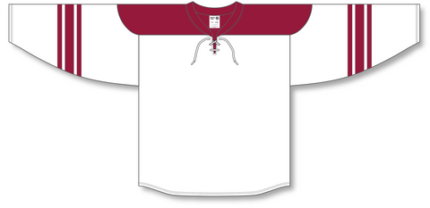Image of Athletic Knit (AK) H550B 2007 Phoenix Coyotes White Hockey Jersey - PSH Sports
