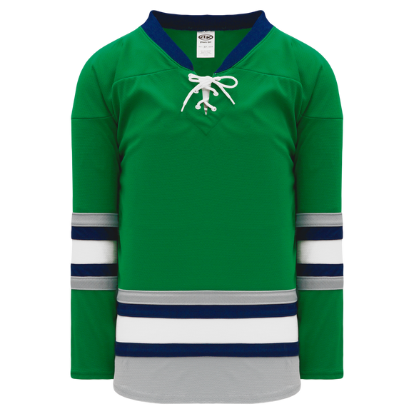 Athletic Knit (AK) H550B-PLY843B New Plymouth Whalers Kelly Green Hockey Jersey