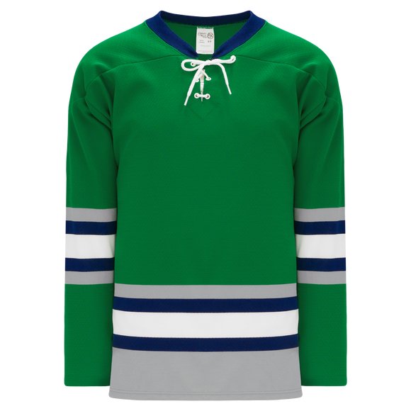 Athletic Knit (AK) H550B Plymouth Whalers Kelly Green Hockey Jersey