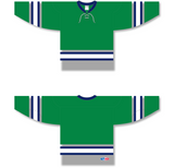 Athletic Knit (AK) H550B Plymouth Whalers Kelly Green Hockey Jersey - PSH Sports