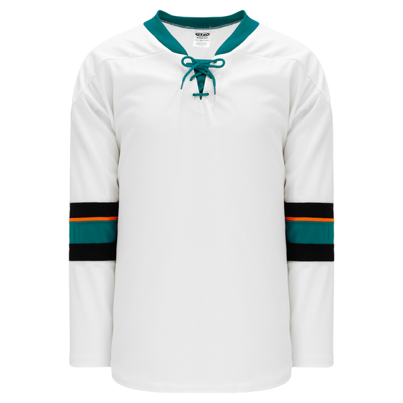 Athletic Knit (AK) H550B-SAN467B 2013 San Jose Sharks White Hockey Jersey
