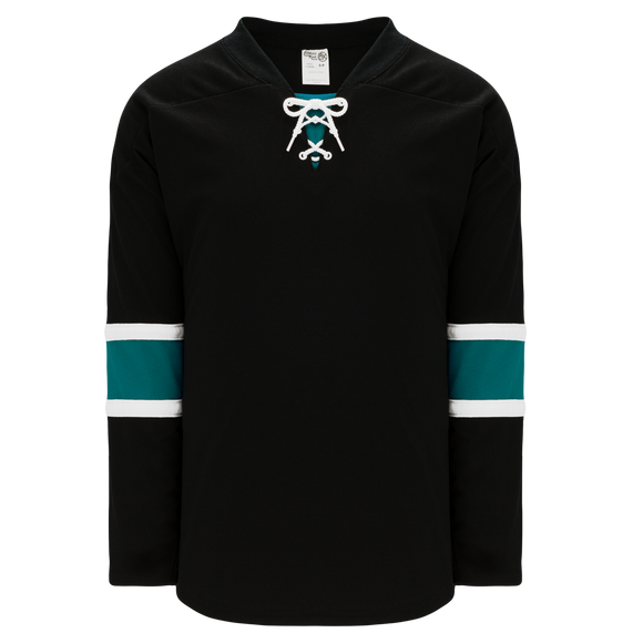 Athletic Knit (AK) H550B-SAN634B 2008 San Jose Sharks Third Black Hockey Jersey