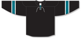 Athletic Knit (AK) H550B 2008 San Jose Sharks Third Black Hockey Jersey - PSH Sports