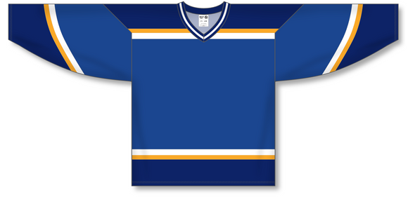 Athletic Knit (AK) H550B 1998 St. Louis Blues Royal Blue Hockey Jersey - PSH Sports