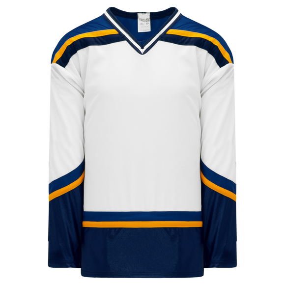 Athletic Knit (AK) H550BA-STL649B Adult 1998 St. Louis Blues White Hockey Jersey