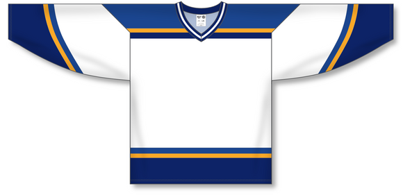 Athletic Knit (AK) H550B 1998 St. Louis Blues White Hockey Jersey - PSH Sports