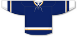 Athletic Knit (AK) H550B 2008 St. Louis Blues Third Navy Hockey Jersey - PSH Sports