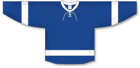 Image of Athletic Knit (AK) H550B 2011 Tampa Bay Lightning Royal Blue Hockey Jersey - PSH Sports