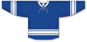 Athletic Knit (AK) H550B 2011 Toronto Maple Leafs Third Royal Blue Hockey Jersey - PSH Sports