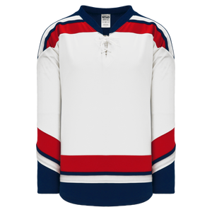 Athletic Knit (AK) H550B-USA862B New 2006 Team USA White Hockey Jersey