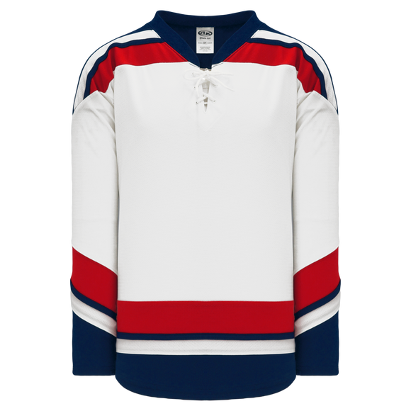 Athletic Knit (AK) H550BA-USA862B New Adult 2006 Team USA White Hockey Jersey