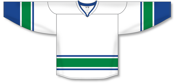 Athletic Knit (AK) H550B 2008 Vancouver Canucks White Hockey Jersey - PSH Sports