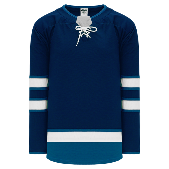 Athletic Knit (AK) H550B-WIN724B 2017 Winnipeg Jets Navy Hockey Jersey
