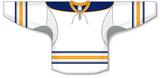 Athletic Knit (AK) H550C 2009 Buffalo Sabres Third White Hockey Jersey - PSH Sports