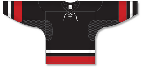 Image of Athletic Knit (AK) H550C Team Canada Black Hockey Jersey - PSH Sports