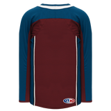 Athletic Knit (AK) H550CA-COL804C 2011 Adult Colorado Avalanche Cardinal Red Hockey Jersey