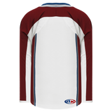 Athletic Knit (AK) H550C-COL805C 2011 Colorado Avalanche White Hockey Jersey
