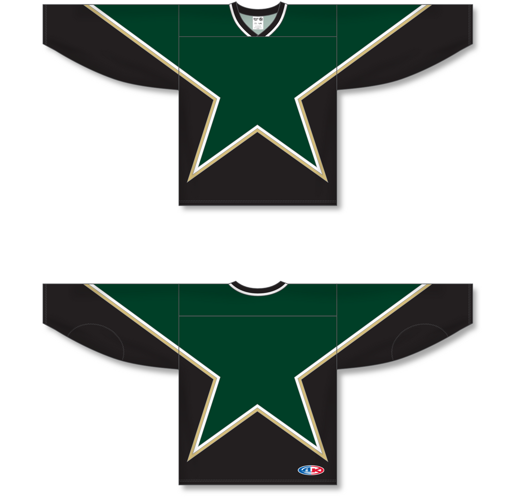 Athletic Knit (AK) H550C Sublimated Dallas Stars Third Forest Green Hockey Jersey - PSH Sports