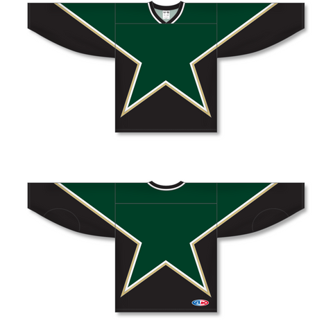 Image of Athletic Knit (AK) H550C Sublimated Dallas Stars Third Forest Green Hockey Jersey - PSH Sports