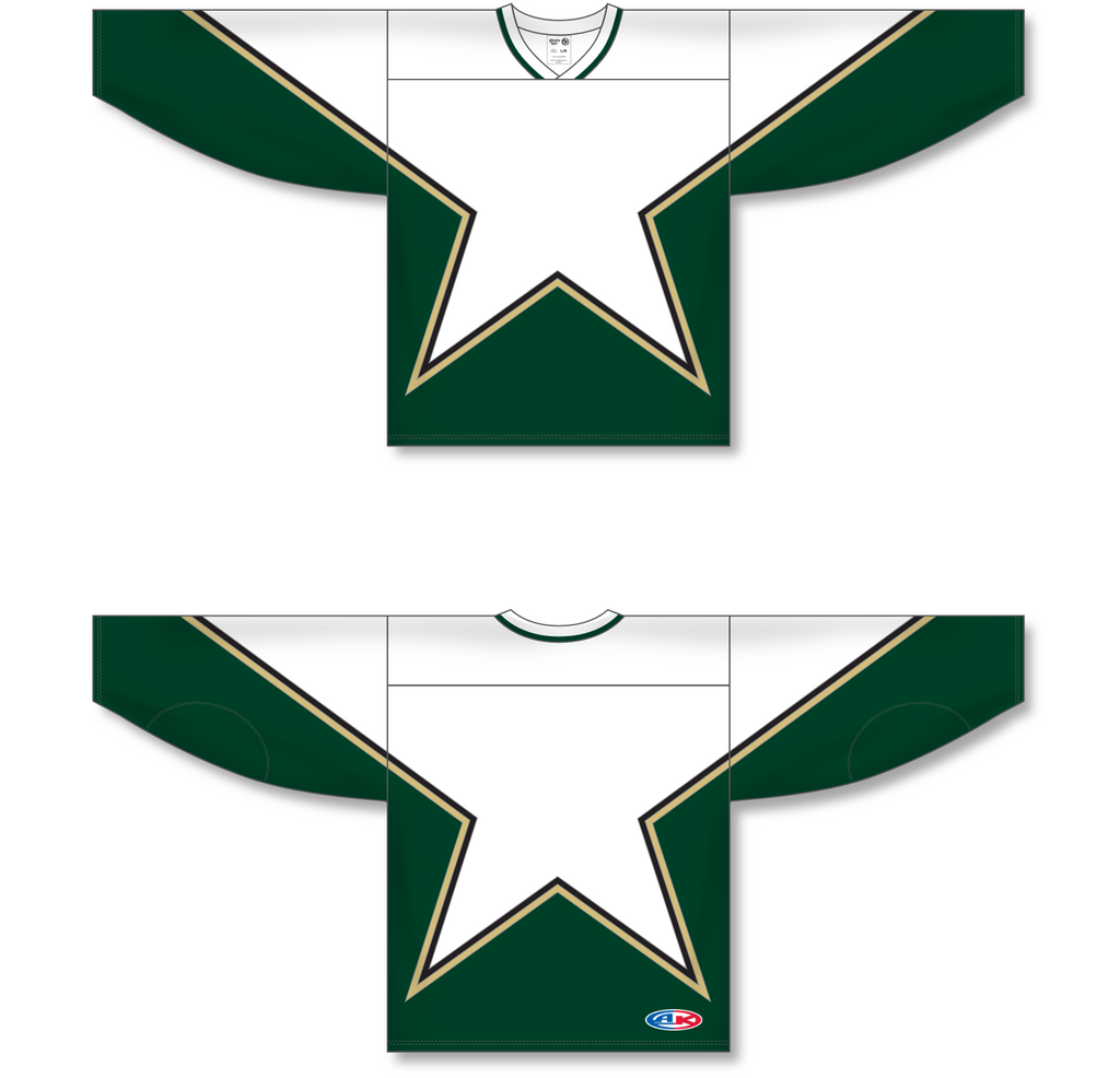 Athletic Knit (AK) H550C Sublimated Dallas Stars Third White Hockey Jersey - PSH Sports