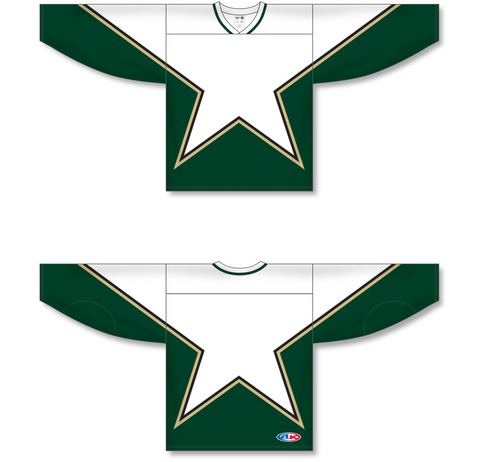Image of Athletic Knit (AK) H550C Sublimated Dallas Stars Third White Hockey Jersey - PSH Sports