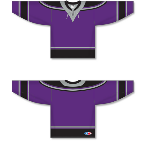 Image of Athletic Knit (AK) H550C New Los Angeles Kings Third Purple Hockey Jersey - PSH Sports