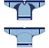 Athletic Knit (AK) H550C New University of Maine Black Bears Third Powder Blue Hockey Jersey - PSH Sports