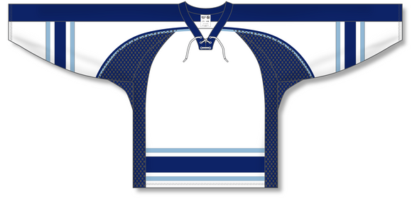 Athletic Knit (AK) H550C University of Maine Black Bears Third White Hockey Jersey - PSH Sports