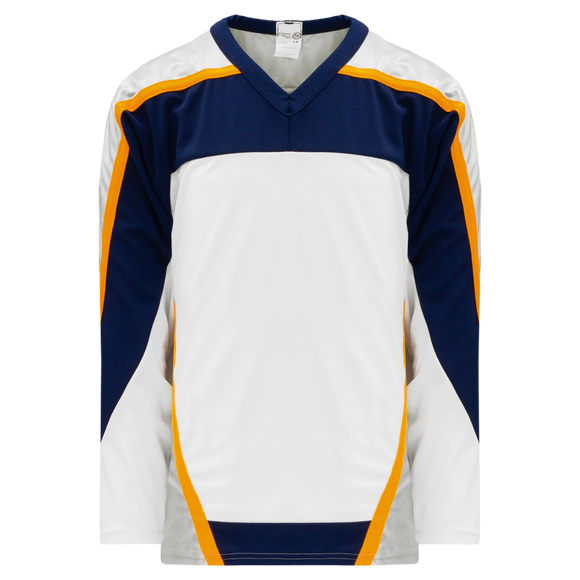 Athletic Knit (AK) H550C-NAS672C Nashville Predators White Hockey Jersey