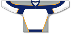 Athletic Knit (AK) H550C Nashville Predators White Hockey Jersey - PSH Sports
