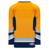Athletic Knit (AK) H550C-NAS673C 2002 Nashville Predators Third Gold Hockey Jersey