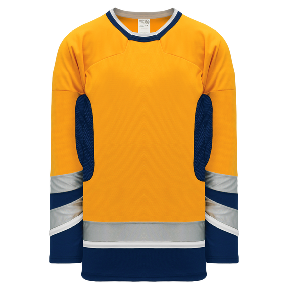 Athletic Knit (AK) H550CY-NAS673C Youth 2002 Nashville Predators Third Gold Hockey Jersey