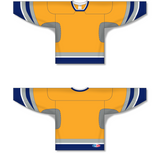 Athletic Knit (AK) H550C 2002 Nashville Predators Third Gold Hockey Jersey - PSH Sports