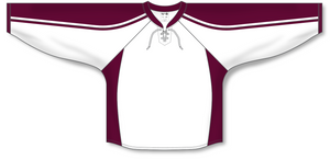 Athletic Knit (AK) H550C Peterborough Petes White Hockey Jersey - PSH Sports