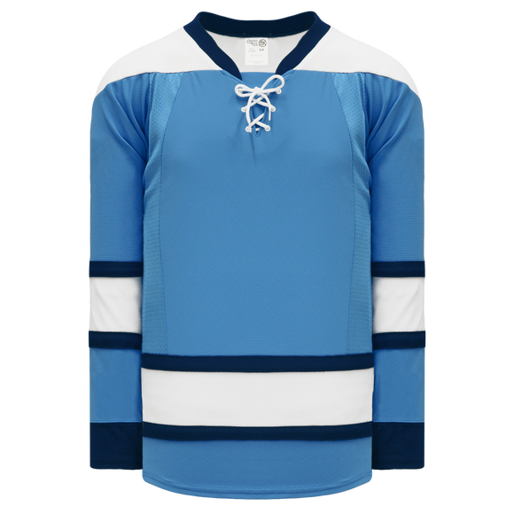 Athletic Knit (AK) H550C-PIT794C New 2008 Pittsburgh Penguins Third Sky Blue Hockey Jersey