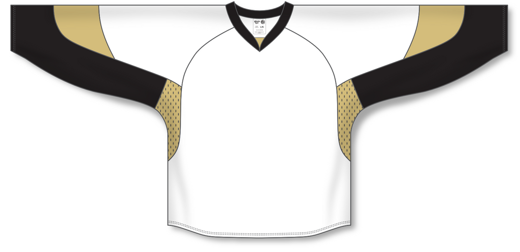 Athletic Knit (AK) H550C 2010 Pittsburgh Penguins White Hockey Jersey - PSH Sports