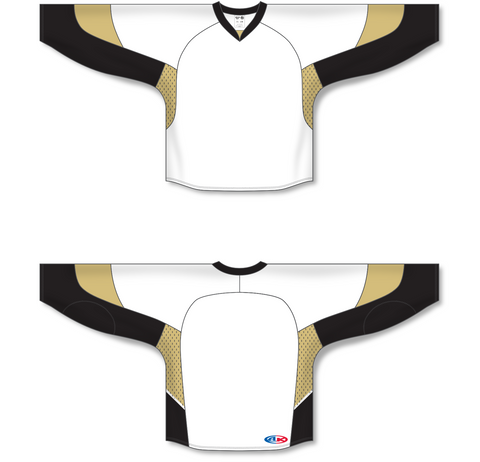Image of Athletic Knit (AK) H550C 2010 Pittsburgh Penguins White Hockey Jersey - PSH Sports